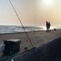 海釣り 自然 夕日