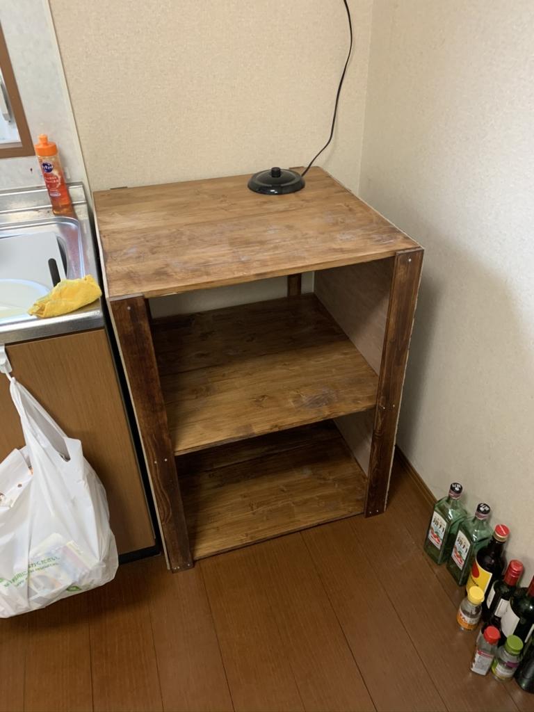 キッチン収納棚 DIY